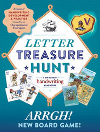 Letter Treasure Hunt Handwriting Game